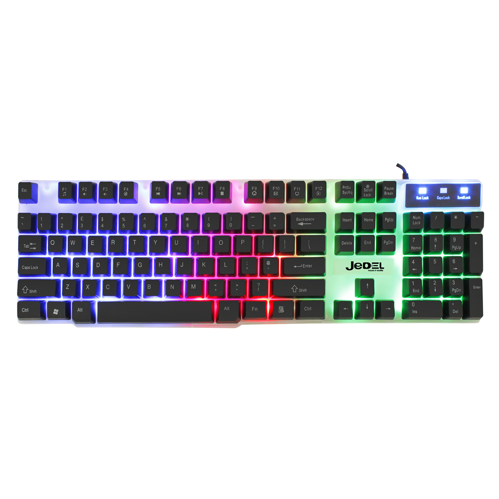 Gaming Keyboard And Mouse Set Rainbow LED Wired USB For PC PS4 Xbox One and 360 3