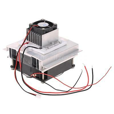 New Thermoelectric Peltier Refrigeration Cooler Fan Cooling System DIY Kit A5B8 6