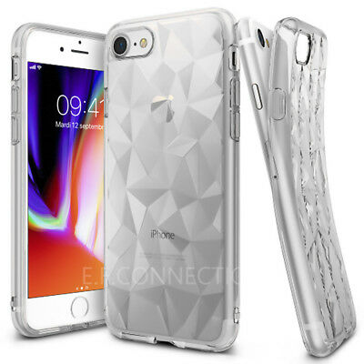 Coque Anti Choc Protection Slim Case Brillant iPhone X 6 S 7 8 XR XS MAX Noir