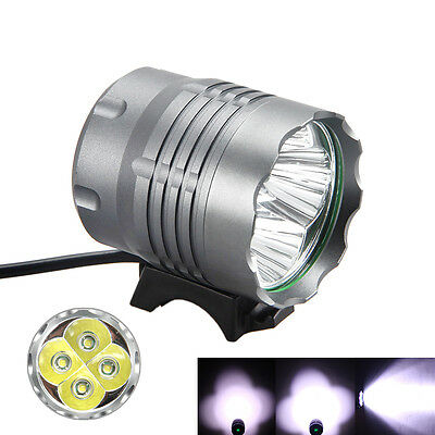Powerful 10000Lm 4x XML T6 LED Head Front Bicycle Lamp Bike Light Headlight TDO