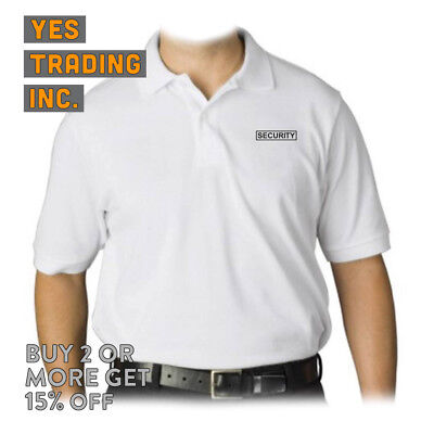 Mens Security Polo Shirt Law Enforment Police Shirts Safety Work Uniform Guard 8