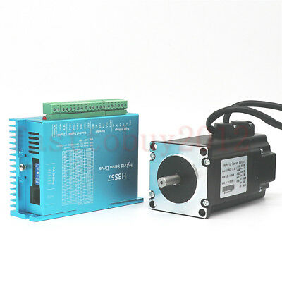 DSP Closed Loop Stepper Drive Motor 2.2NM Nema23 +200W Power Supply +3M Cables 9