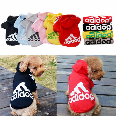 Cute Medium M Pink Adidog Hoodies For Male Small Dogs Outfits Apparel Cheap US 6