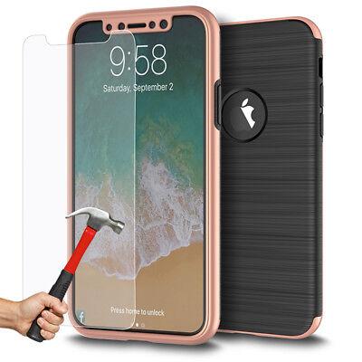Coque Etui Intégrale 360° Protection iPhone 6/6S/Plus/7/8/X + Film Verre trempé 3