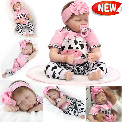"22""'Girl Reborn Baby Dolls Vinyl Silicone Realistic New Arrival Newborn Doll Toy 2"