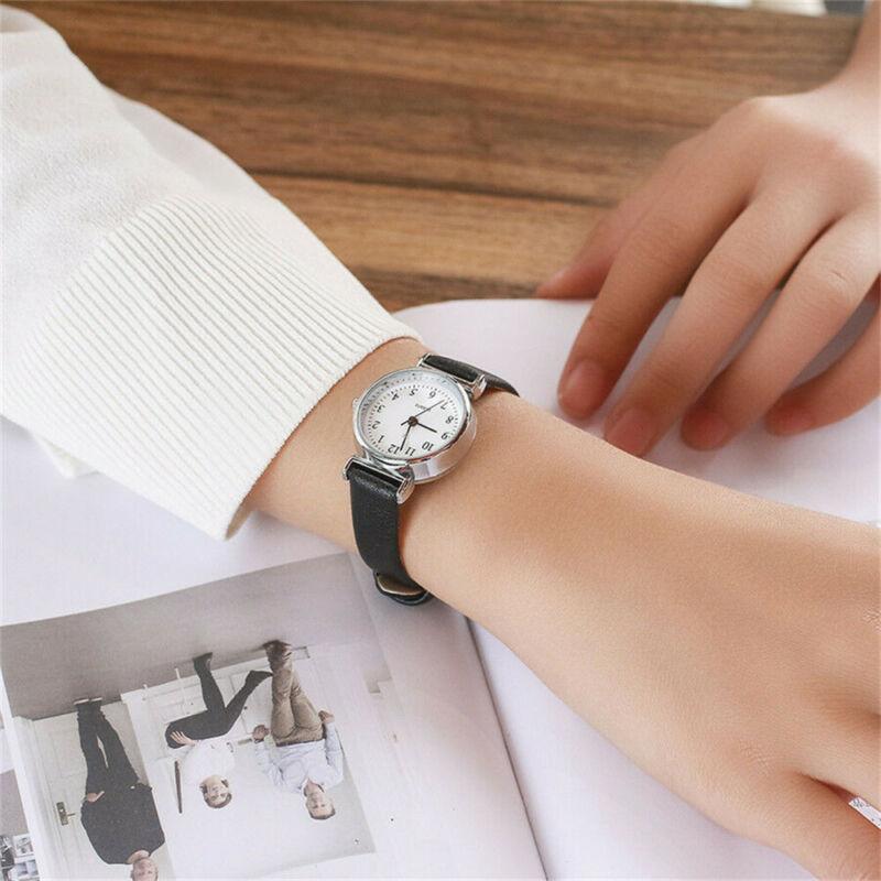 Women's Casual Quartz Leather Band Strap Watch Round Analog Wrist Watch Watches 6