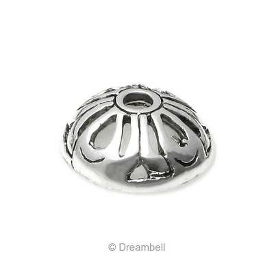 Antique Dreambell 2 pcs Bali 925 Sterling Silver Round Flower Cone Bead Cap 5mm Findings