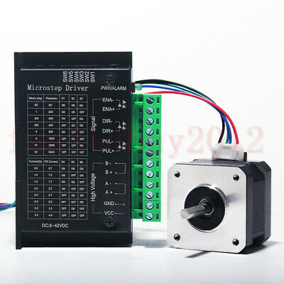 Nema 23 Stepper Motor TB6600 Driver 4-wires 8mm Shaft for DIY CNC Router Mill 2