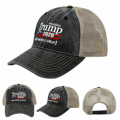 Trump 2020 MAGA Hat Keep Make America Great Again Mesh Embroidered Cap A+++ USA 7