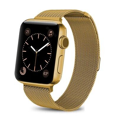 For iWatch Apple Watch Series 3/2/1 Watch Metal Band Strap Adjustable 38mm/42mm 5