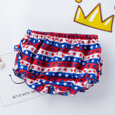 Newborn Baby Girls Ruffle Bloomers Layers PP Pants Diaper Cover Shorts Skirts 5