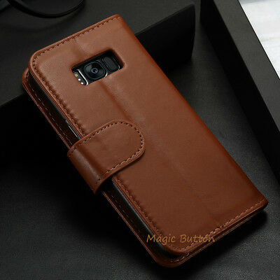 For Samsung Galaxy S9 S8 Plus S7 edge Wallet PU Leather Flip Case Card Cover 5