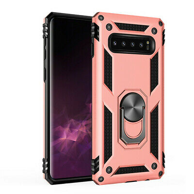 For Samsung S10e S10 Plus S9 S8 Armor Shockproof Magnetic Ring Stand Case Cover 12
