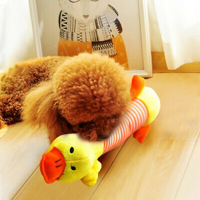 UK Funny Soft Pet Puppy Chew Play Squeaker Squeaky Cute Plush Sound For Dogs Toy 8
