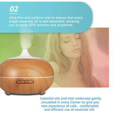 500ml Essential Oil Aroma Diffuser LED Ultrasonic Air Mist Aromatherapy AU Plug 4