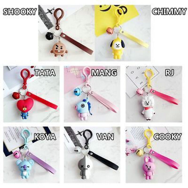 Kpop BTS BT21 Cartoon Acrylic Keychain Bag Pendant Keyring TATA COOKY MANG 3