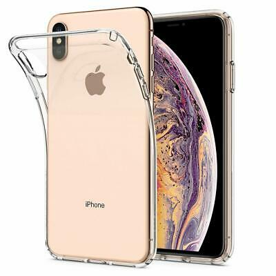 iPhone XS Max XR X Case Genuine SPIGEN Liquid Crystal SLIM CLEAR Cover for Apple 2