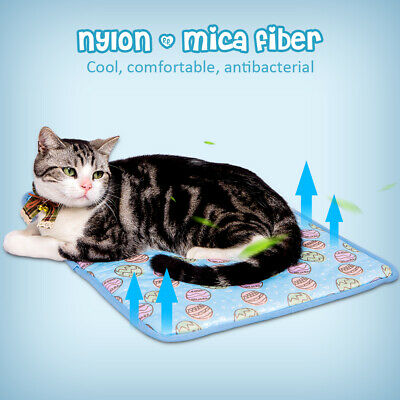 Indoor Summer Cat Dog Self-Cooling Mat Hot Weather Puppy Sleeping Bed Chihuahua 8