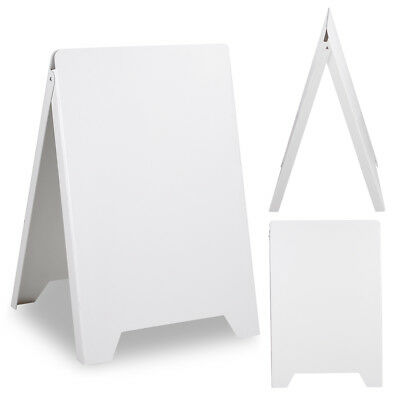 Double Side Sidewalk Pavement A Frame PVC Sandwich Board Dryerase Menu Sign