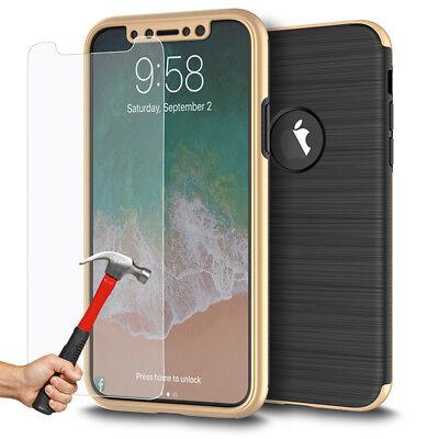 Coque Etui Intégrale 360° Protection iPhone 6/6S/Plus/7/8/X + Film Verre trempé 10