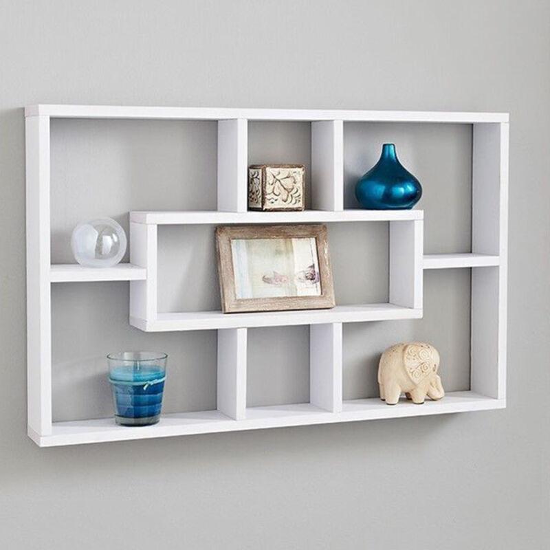 Space Saving Floating Wall Shelves Display Shelf Bookshelf Storage Unit UK 8