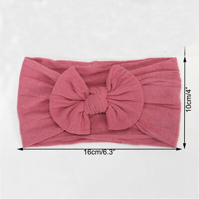 Girls Kids Baby Cotton Bow Hairband Headband Sweet Turban Knot Head Wrap 5