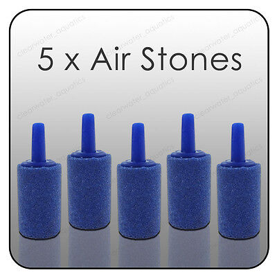 """5 x Aquarium 1"""" AIRSTONES Fish Tank Air Stone Small 25mm Oxygen Bubbles Pump"""