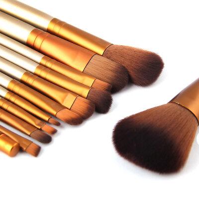 12Pcs Pro Kabuki Makeup Brushes Set Foundation Powder Eyeshadow Blending Brush 10