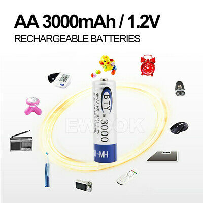 OZ 4-20X BTY AA Rechargeable Battery Recharge Batteries 1.2V 3000mAh Ni-MH 11