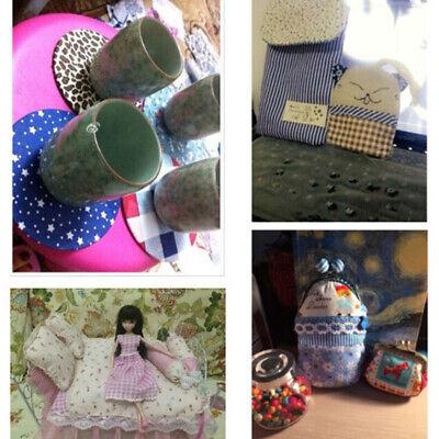 7Pcs 100% Cotton Fabric Assorted Pre-Cut Bundle DIY Decor 25cm CHRISTMAS GIFT 5