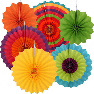 6x Paper Fan Flowers Wedding Baby Birthday Party Garland Tissue Paper Decoration 10