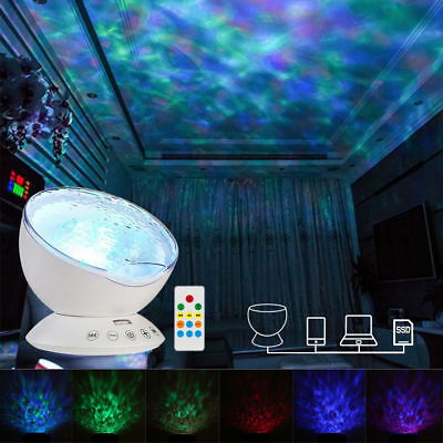 Relaxing Ocean Wave Music LED Night Light Projector Remote Lamp Baby Sleep Gift 4
