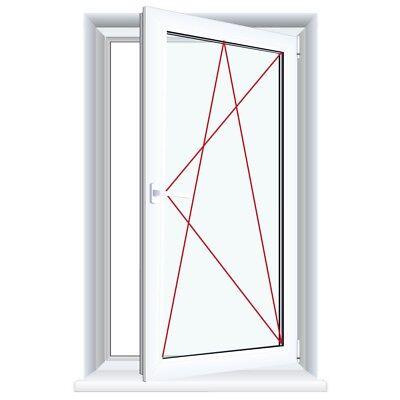 Kunststofffenster Master Carre Schwarzbraun Fenster Badfenster WC Ornamentglas