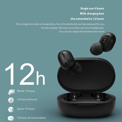 For Xiaomi Redmi TWS Airdots Headset Bluetooth Earphone Headphone Stereo Earbuds 8