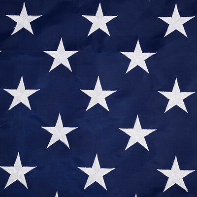 10'x15' FT American Flag USA US US Sewn Stripes Embroidered Stars Brass Grommet 2