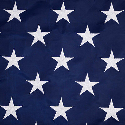 4'x6' FT American Flag USA US U.S. Sewn Stripes Embroidered Stars Brass Grommets 2