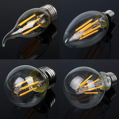 nostalgie dimmbar e27 e14 edison retro led lampe gl hbirne filament leuchtmittel eur 2 27. Black Bedroom Furniture Sets. Home Design Ideas