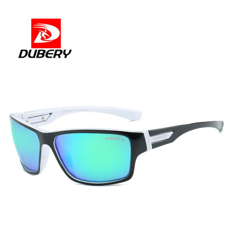 DUBERY Mens Sport Polarized Sunglasses Outdoor Riding Fishing Square Eyewear New 3