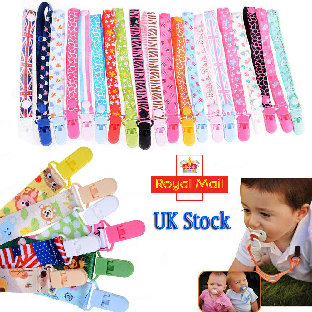 Beautiful Dummy Clip Baby Soother Clips Chain Holder Pacifier Strap Many Designs 4