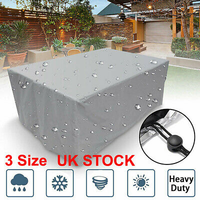 Extra Large Garden Rattan Outdoor Furniture Cover Patio Table Protection UKSTOCK 6