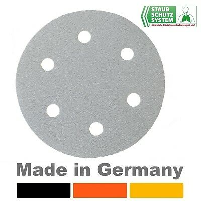 10 Stück 37608000 Eibenstock Schleifpapier K.P24  6-fach gel.Klett  Ø 225 mm