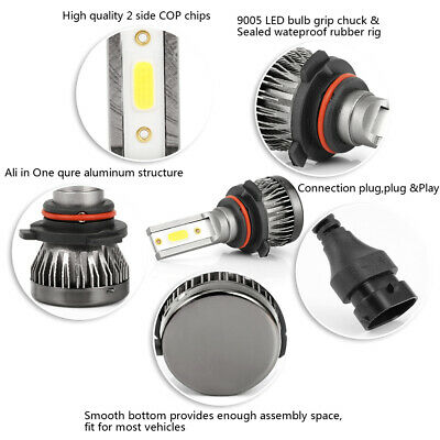 9005 9006 9145 LED Headlight Bulbs For Chevy 03-2007 Silverado 02-2005 Avalanche 10