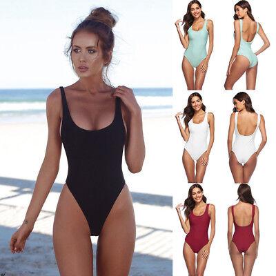 Women Lingerie One Piece Swimwear High Cut Leotard Thong Bodysuit Sheer Bikini