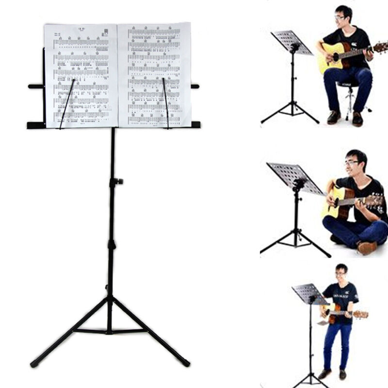 Heavy Duty Foldable Music Stand Holder Base Tripod Orchestral Conductor Sheet 6