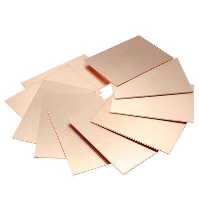 5pcs One-Side Copper Clad 100x100x1mm Single PCB Board Glass Fiber