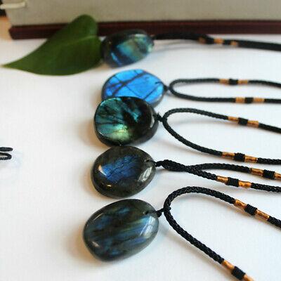 Delicate Natural Labradorite Pendant Crystal Necklace Healing Stone Necklace 4