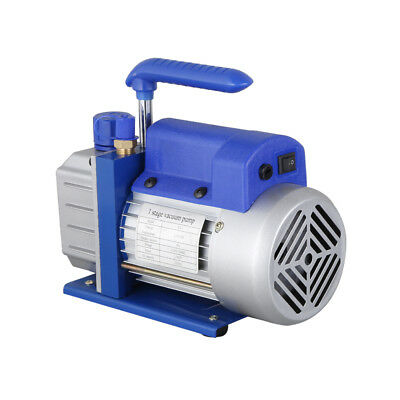 2.5CFM HVAC AC Rotary Vane 1/4HP Deep Vacuum Pump Air Refrigerant Single Stage 7