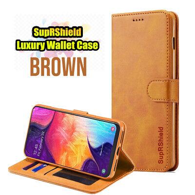 Samsung Galaxy A70 A50 A30 A20  A10e A90 Genuine Leather Wallet Flip Case Cover 4