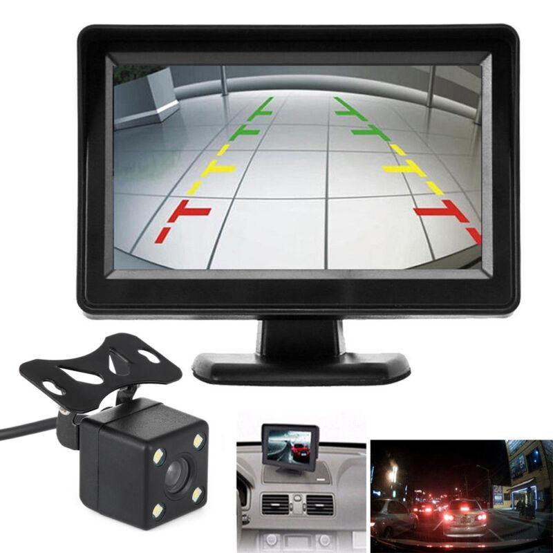 "4.3"" TFT LCD Monitor + Wireless Car Backup Camera Rear View System Night Vision 2"