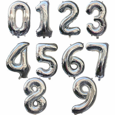 """32"""" 40"""" Giant Foil Number Balloons letter Air Helium Birthday Age Party Wedding 4"""